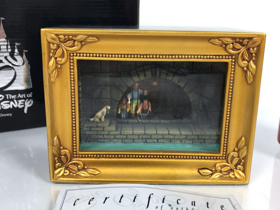 Robert Olszewski Disneyland's Pirates Of The Carribbean Pirates Jail Scene Gallery Of Light Attraction Miniature Replica With Certificate Of Authenticity And Box DP-GL001 (Last One Sold For $950) [Photo 1]