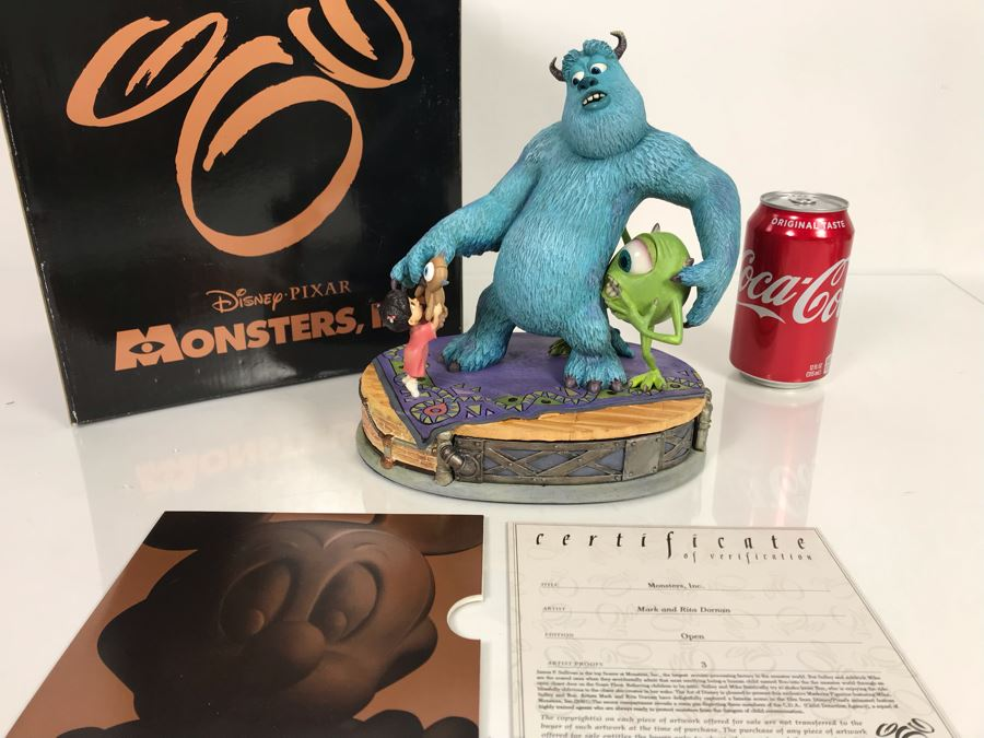 The Art Of Disney Monsters, Inc. Sculpture By Mark And Rita Dornan With Certificate Of Authenticity And Box [Photo 1]