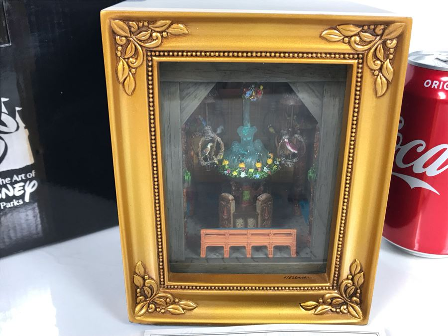 Rare HAND SIGNED By Robert Olszewski Limited Edition 500 Disneyland's Enchanted Tiki Room 45th Anniversary Scene Gallery Of Light With Certificate Of Authenticity And Box DP-GL011 [Photo 1]