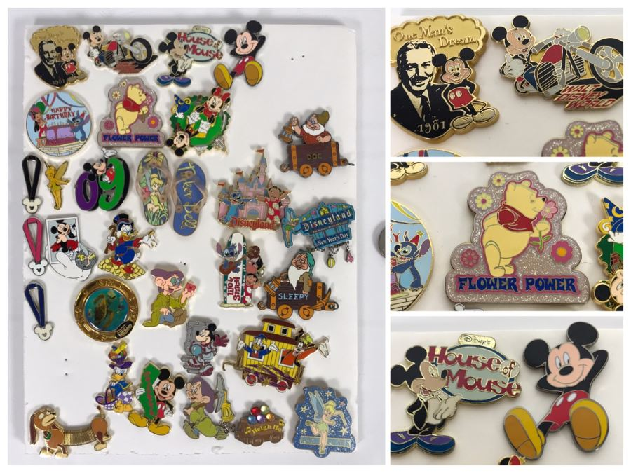 Collection Of Walt Disney Disneyland Pins Trading Pins [Photo 1]