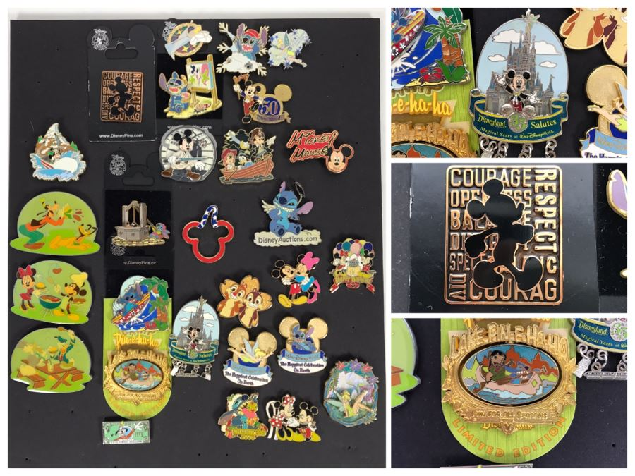 Collection Of Walt Disney Disneyland Pins Trading Pins [Photo 1]