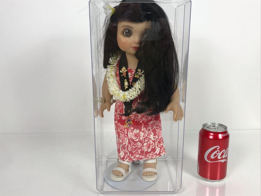 Marie Osmond Disney Tiki Room Adora Belle Pin Trader Doll Disney Parks Disneyland Hostess 14' With Acrylic Display Case [Photo 1]