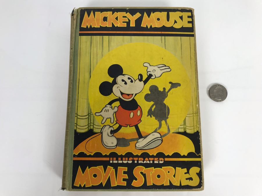 Vintage 1931 Book Mickey Mouse Movie Stories Story And Illustrations By Staff Of Walt Disney Studio David McKay Company [Photo 1]