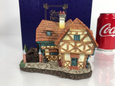 L'Argent French Village From Disney's Beauty And The Beast Village Figurine With Box (Residual Museum Wax On Bottom)