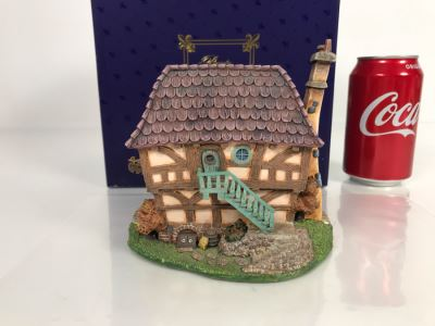 Boulangerie French Village From Disney's Beauty And The Beast Village Figurine With Box (Residual Museum Wax On Bottom)