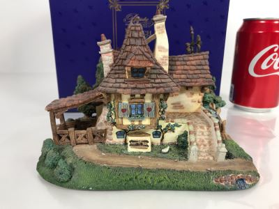 Belle & Maurice's Cottage French Village From Disney's Beauty And The Beast Village Figurine With Box (Residual Museum Wax On Bottom)