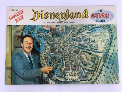 Vintage 1955 Disneyland Picture Souvenir Book In Natural Color Walt Diseny Productions