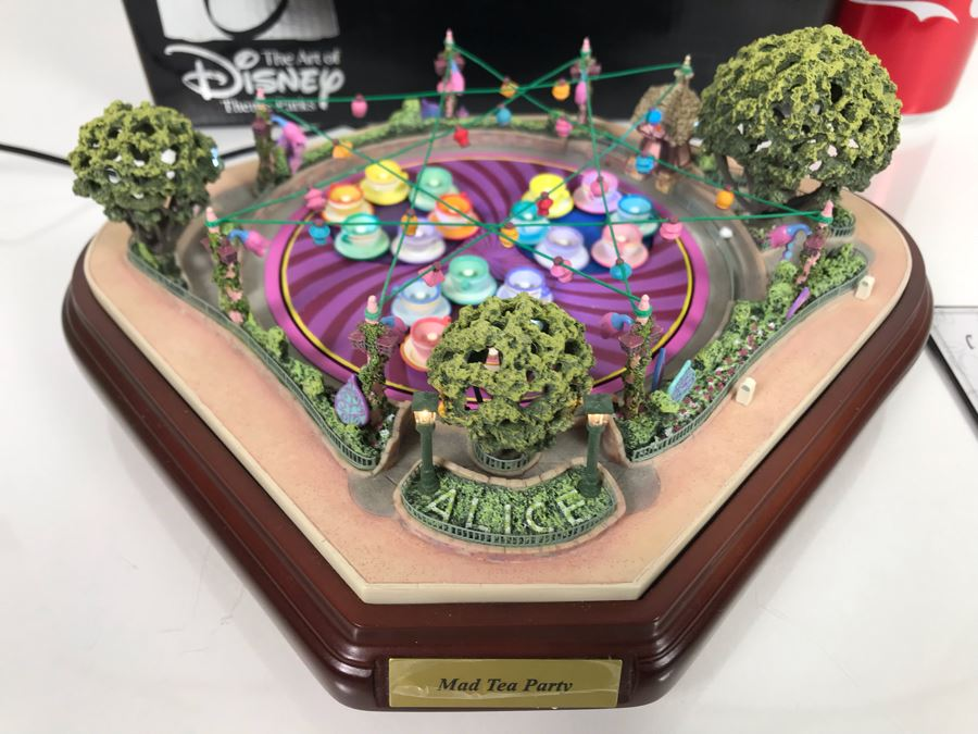 Robert Olszewski Mad Tea Party Mechanized And Working (See Video In Description) The Art Of Disney Disneyland Theme Park Attraction Miniature Model With Box And Certificate Of Authenticity (Estimate $1,000-$1,500) [Photo 1]
