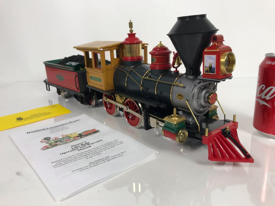 Disney's Lilly Belle Locomotive Train With Tender By Hartland Locomotive Works With Box [Photo 1]
