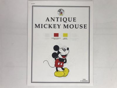 Color Palettes Guide For Antique Mickey Mouse, Minnie Mouse, Donald Duck, Daisy Duck, Goofy And Pluto