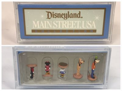 NEW Robert Olszewski Disneyland Main Street, USA Collection Miniatures Fab Five Character Pack DL401 Featuring Mickey Mouse, Minnie Mouse, Donald Duck, Goofy And Pluto - Estimate $100-$200