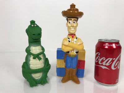 Disney Original Toy Story Movie Promotional Squeeze Bottle Woody And Rex