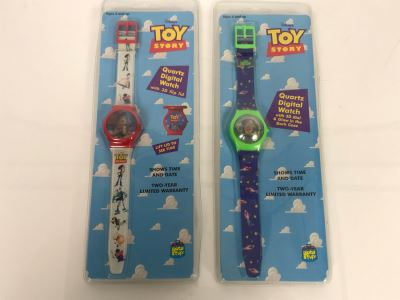 Pair Of New Disney's Original Toy Story Watches Woody And Buzz Lightyear