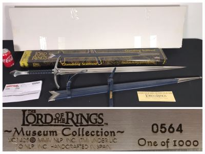 The Lord Of The Rings Museum Collection Limited Edition Sword UC1425 564 Of 1,000 With Glamdring Scabbard And Boxes - List Price Of Sword $1,200