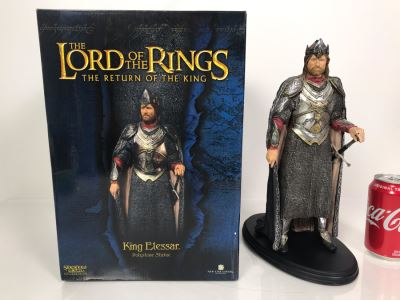 The Lord Of The Rings The Return Of The King Movie - King Elessar Sculpture Limited Edition Of 3,000 From Sideshow Weta Collectibles With Box