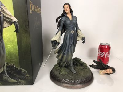 The Lord Of The Rings Movie - Arwen Statue Sculpture Limited Edition Of 500 From Sideshow Collectibles With Box (Comes With Multiple Heads)