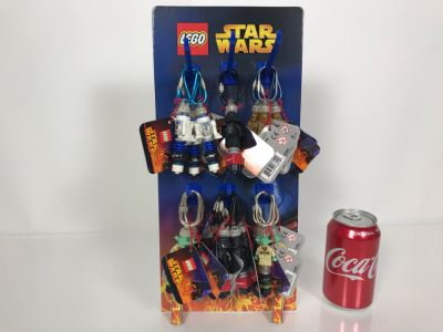 LEGO Star Wars Keychains With Store Display Merchadiser Includes R2-D2, Darth Vader, Yoda And Chewbacca - 24 Total Key Chains