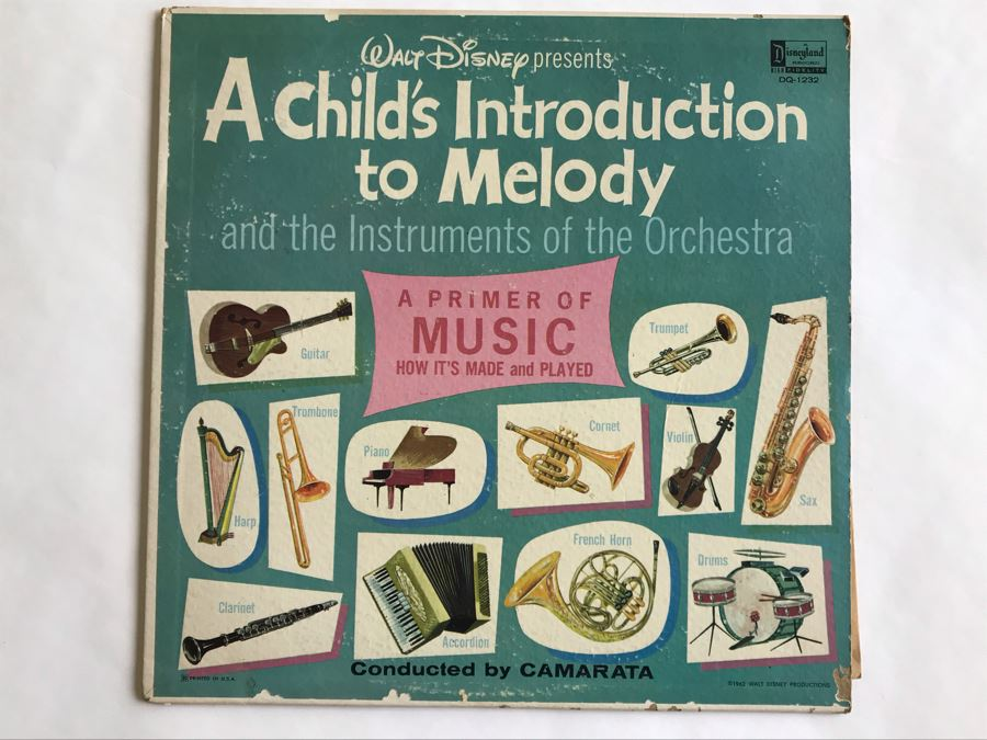 Walt Disney Presents A Child's Introduction TO Melody Disneyland Record DQ-1232 [Photo 1]