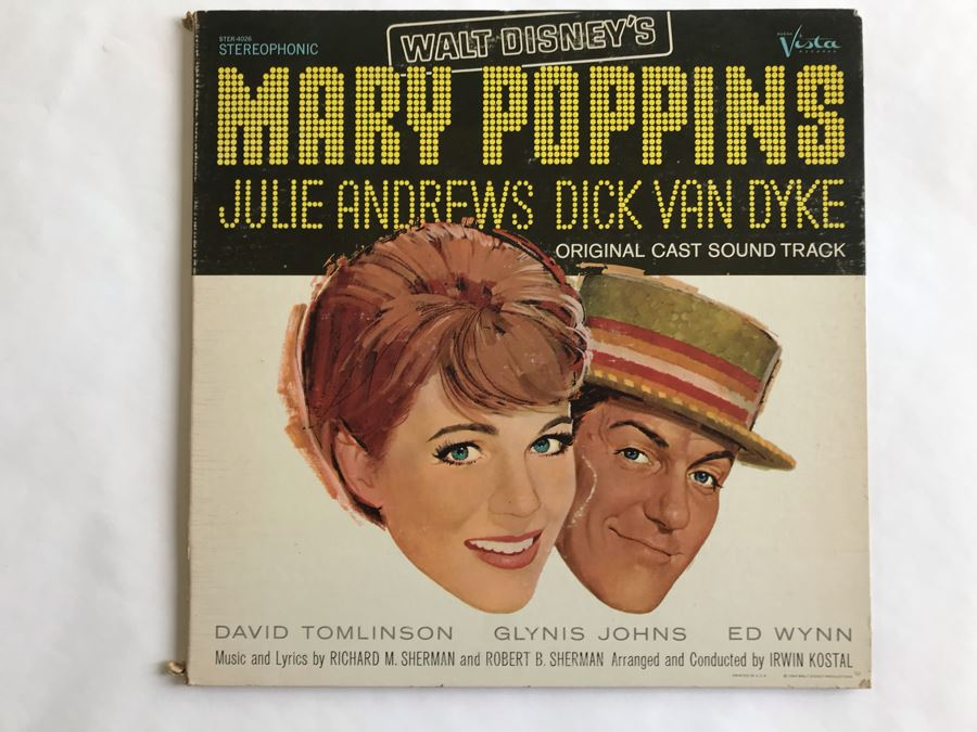 Walt Disney's Mary Poppins Julie Andrews And Dick Van Dyke Original Cast Sound Track Record [Photo 1]