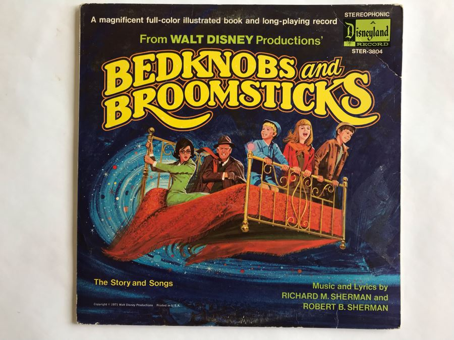 Walt Disney Productions' Bedknobs And Broomsticks Disneyland Record STER-3804 [Photo 1]
