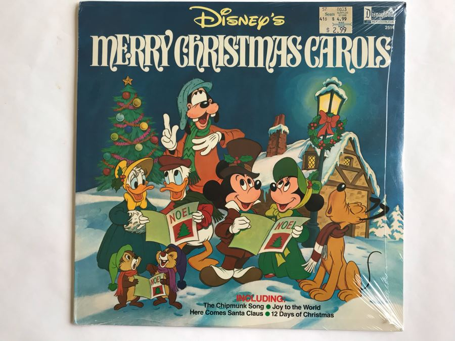 SEALED Disney's Merry Christmas Carols Disneyland Record 2514 [Photo 1]