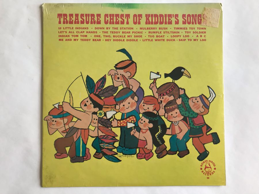 SEALED Treasure Chest Of Kiddie's Songs Robin Hood Records [Photo 1]