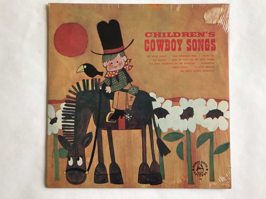 SEALED Children's Cowboy Songs Robin Hood Records [Photo 1]