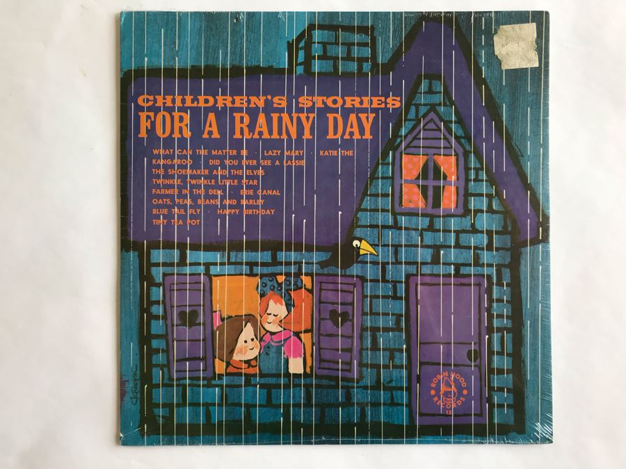 SEALED Children's Stories For A Rainy Day Robin Hood Records [Photo 1]