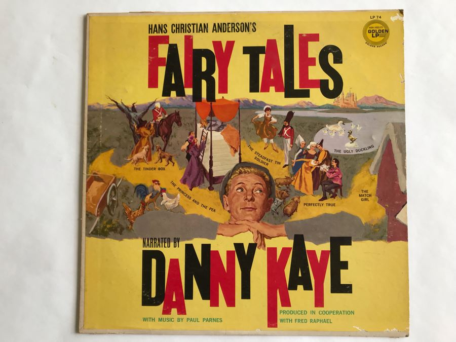Hans Christian Anderson's Fairy Tales Narrated By Danny Kaye Golden LP Record LP74 [Photo 1]