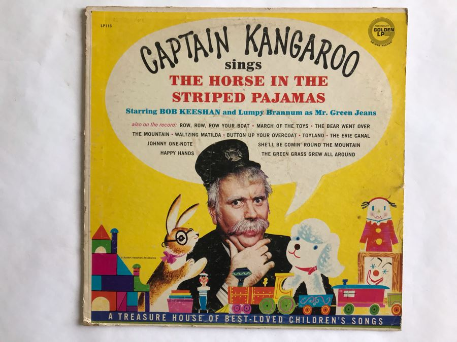 Captain Kangaroo Sings The Horse In The Striped Pajamas Golden LP Record LP116 [Photo 1]