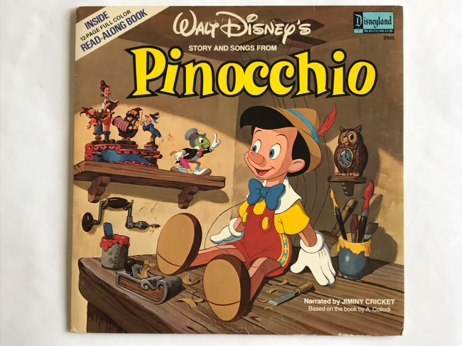 Walt Disney's Story And Songs From Pinocchio Disneyland Records 3905 [Photo 1]