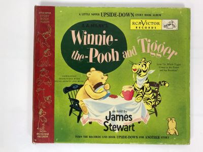 Little Nipper Upside-Down Story Book Album Winnie-The-Pooh And Tigger Record