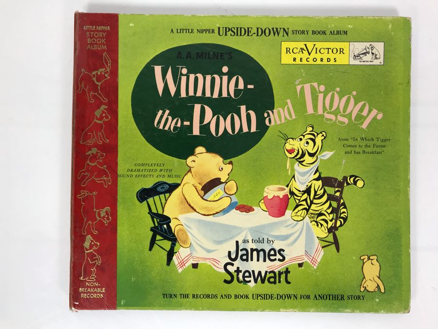 Little Nipper Upside-Down Story Book Album Winnie-The-Pooh And Tigger Record [Photo 1]