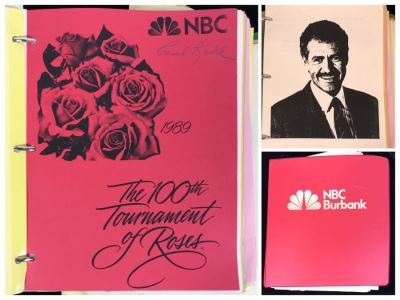 1989 NBC Tournament Of Roses Parade Binder With Script, Planning And Information Folder With Personalized Notes From Co-ordinating Producer And Official Souvenir Parade Program Hosted By Alex Trebek - See Photos For Small Sample