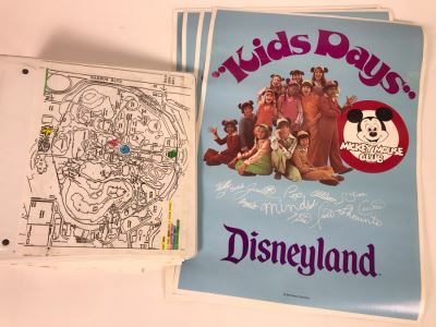 Original Script For NBC TVs Disney's Countdown To Kid's Day NBC TV Special 11/21/93 Filled With Planning, Information And Handwritten Notes PLUS (4) Disneyland Mickey Mouse Club 'Kids Days' Posters - See Photos For Small Sample