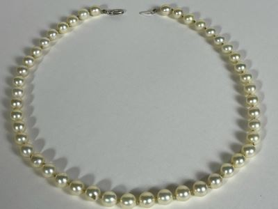 Vintage Freshwater Pearls Necklace With 14K Gold Clasps 16'L Owned By Former Miss Texas