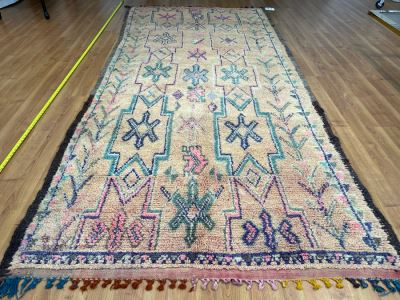 Handwoven Moroccan Rug From The Berber Tribe Boho Feel 10' x 4.6' Retails $2,650