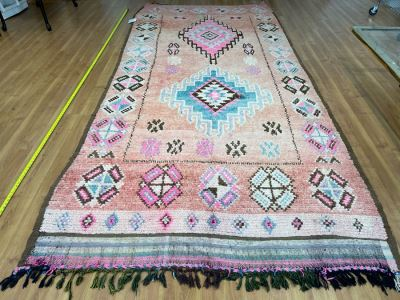Handwoven Moroccan Rug From The Berber Tribe Boho Feel 11' x 5.8' Retails $2,650