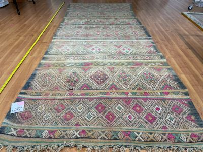 Handwoven Moroccan Rug From The Berber Tribe Boho Feel 13.5' x 5.8' Retails $2,850