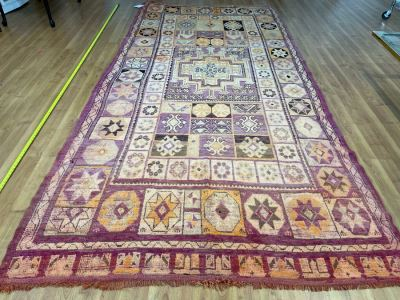 Handwoven Moroccan Rug From The Berber Tribe Boho Feel 11.1' x 6' Retails $2,950