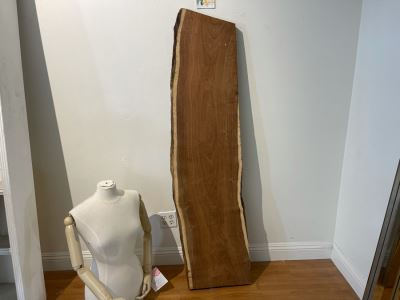 Live Edge Organic Wooden Shelf 64'L X 17'D Retails $450