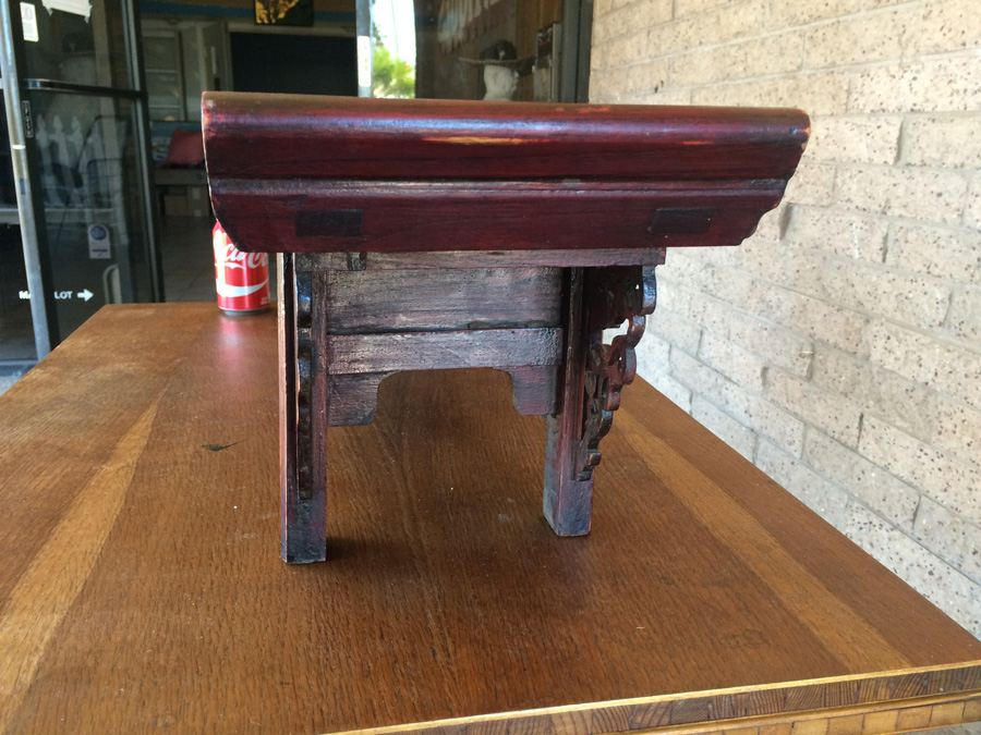 Antique Chinese Alter Prayer Table Carved Wood [Photo 29]