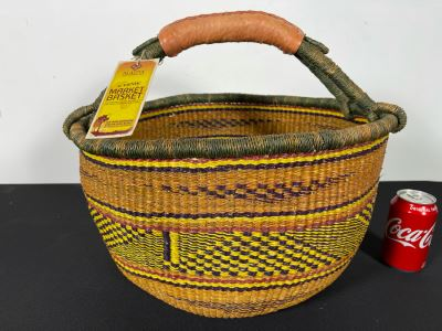 Alafiia Woven Basket Handmade In Ghana 18 X 15