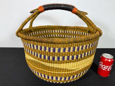 Alafiia Woven Basket Handmade In Ghana 17 X 15