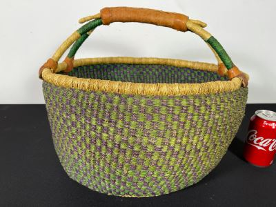 Alafiia Woven Basket Handmade In Ghana 17 X 12