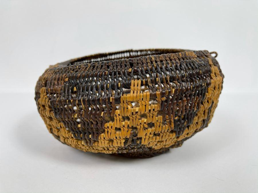Vintage Woven Basket 8W X 4.5H