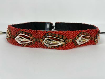 Hand Beaded Belt With Shells 30L Retails $149