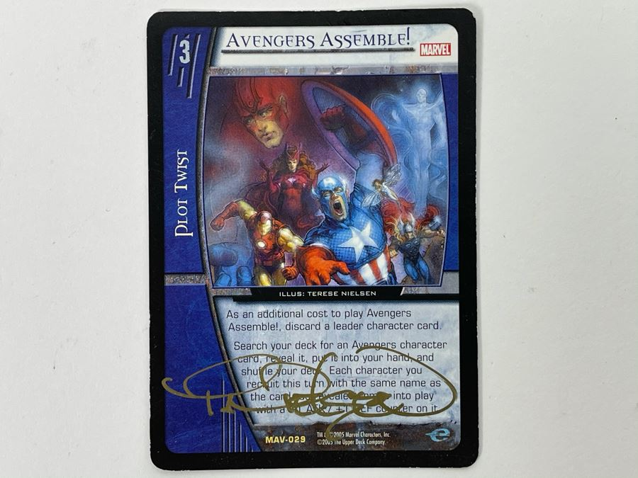 Terese Nielsen Signed Marvel Avengers Assemble! Trading Card Game #3 Upper Deck [Photo 1]
