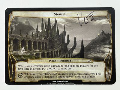Vincent Proce Signed Magic: The Gathering 'Artist Proof' Stensia Card (Blank Back) Card Number 74