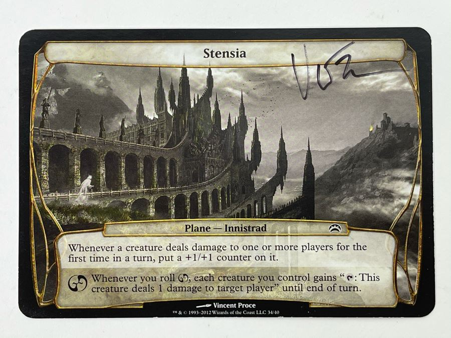 Vincent Proce Signed Magic: The Gathering 'Artist Proof' Stensia Card (Blank Back) Card Number 74 [Photo 1]